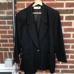Christian Dior Wool 90's Retro Blazer
